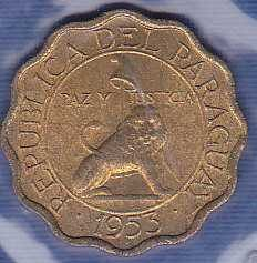 Paraguay 10 Centimos 1953