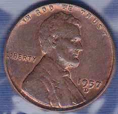 1957 D Lincoln Wheat Cent