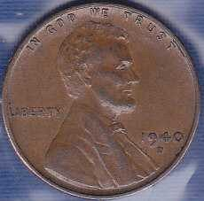1940 D Lincoln Wheat Cent