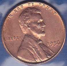 1956 P Lincoln Wheat Cent