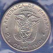 Panama 2 1/2 Centesimos 1973