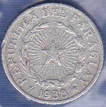 Paraguay 50 Centavos 1938