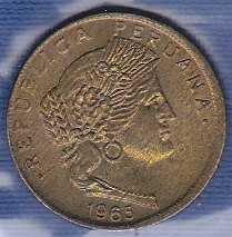 Peru 5 Centimos 1965