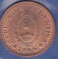 Argentina 1 Centavo 1946