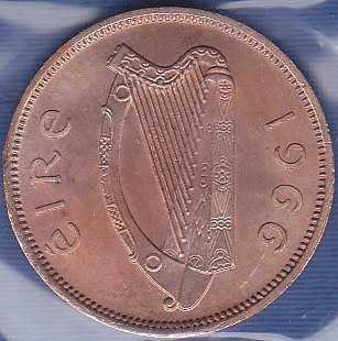 Ireland 1/2 Penny 1966