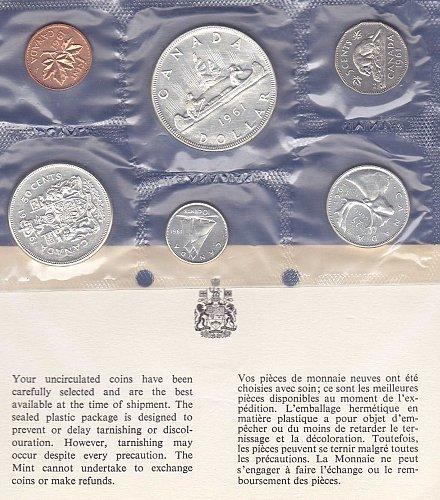 1961 Canadian Mint Set