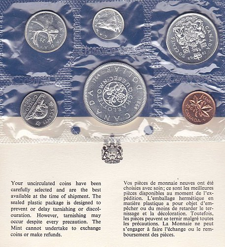 1964 Canadian Mint Set