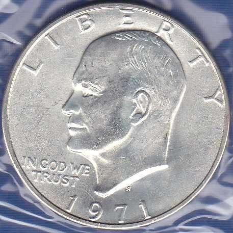 1971 S Eisenhower Dollar 40% Silver