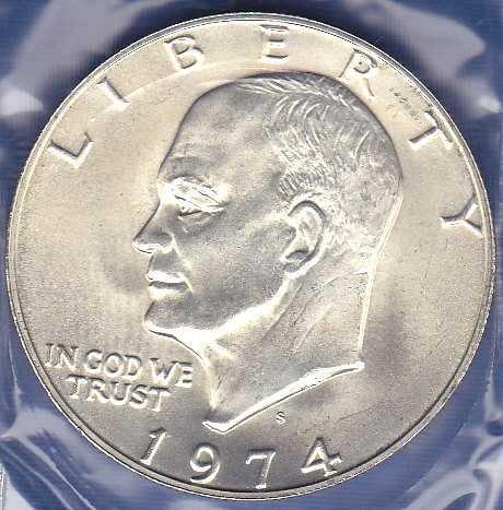 1974 S Eisenhower Dollar 40% Silver