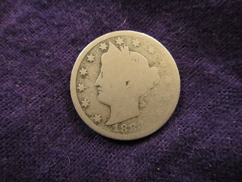 "1883 WITH CENTS Liberty ""V"" Nickel Good-4"