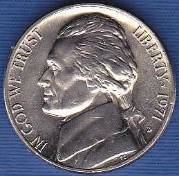 1971 D Jefferson Nickel