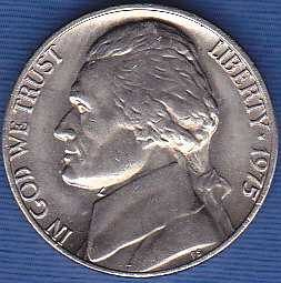 1975 P Jefferson Nickel