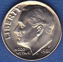 1981 P Roosevelt Dime
