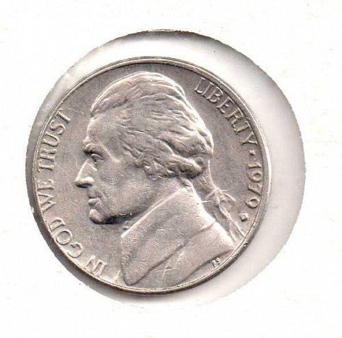 1979 s Jefferson Nickel - Type 1 - Filled S