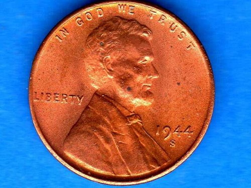 1944 S Ch Bu Lincoln Head Penny US Coin