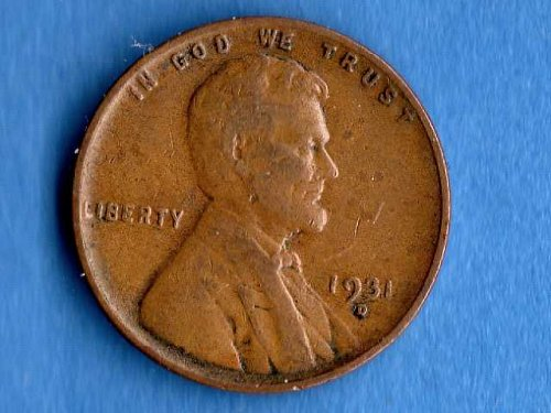 1931D Lincoln Head Penny US Coin F16