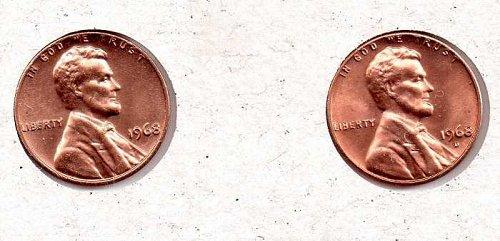 1968 p,d Lincoln Memorial Penny