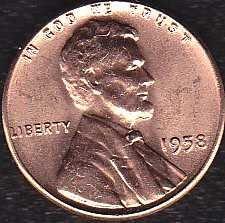 1958 P Lincoln Wheat Cent
