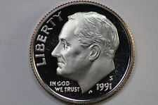 1991 S  PROOF ROOSEVELT DIME