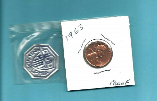 1963  PROOF  LINCOLN CENT