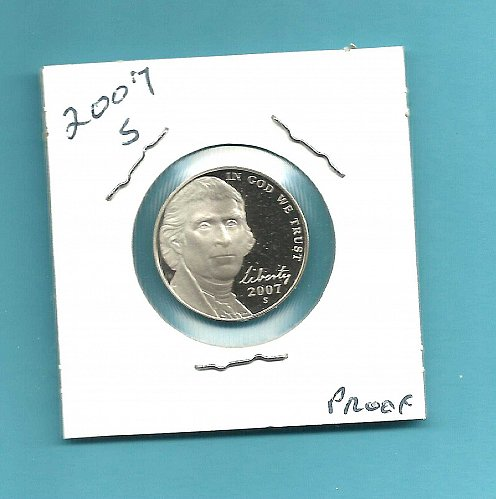 2007 S  PROOF JEFFERSON NICKEL