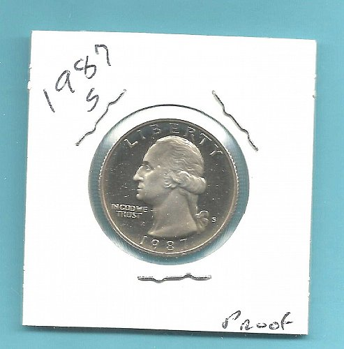 1987 S PROOF WASHINGTON QUARTER