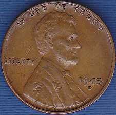 1945 D Lincoln Wheat Cent