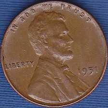 1951 P Lincoln Wheat Cent