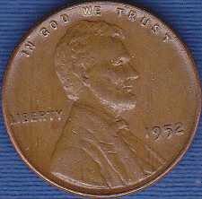 1952 P Lincoln Wheat Cent