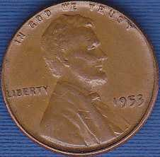 1953 P Lincoln Wheat Cent