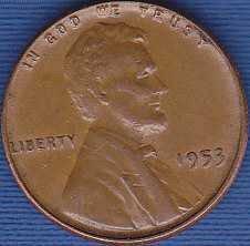 1953 P Lincoln Wheat Cent