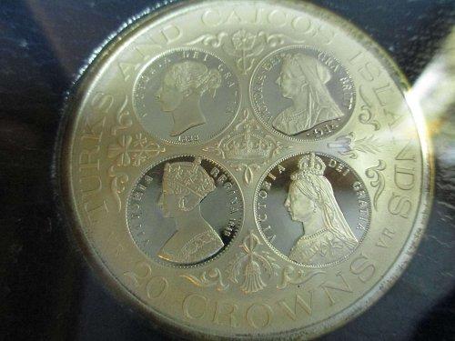Turks & Caicos Islands 20 Crowns 1976