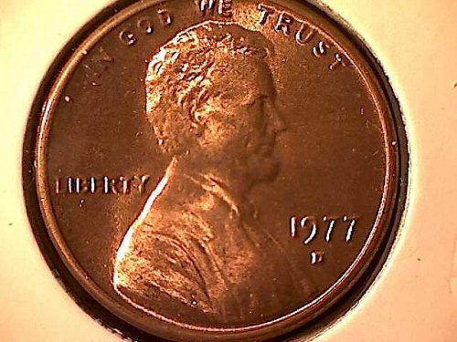 1977 D Lincoln Memorial Penny