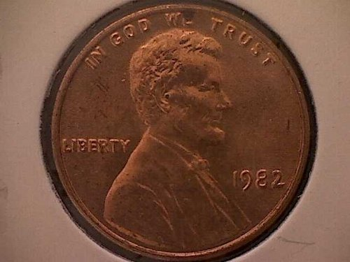 1982-P LINCOLN MEMORIAL PENNY LARGE DATE