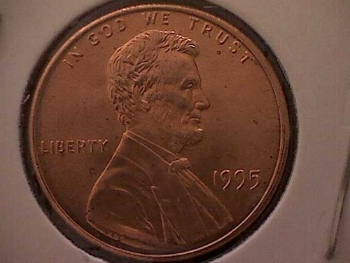 1995 P Lincoln Memorial Penny