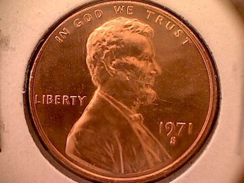 1971 S Lincoln Memorial Penny