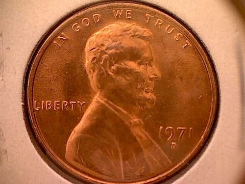 1971 D Lincoln Memorial Penny