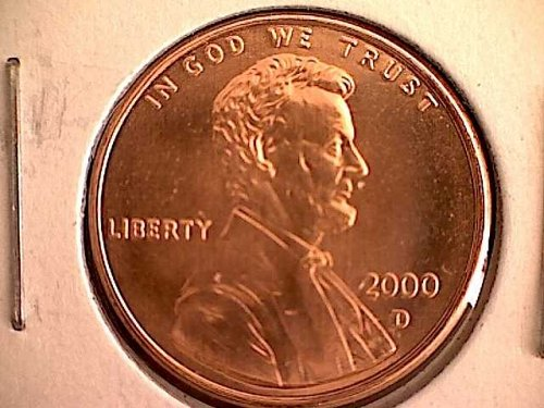 2000-D LINCOLN MEMORIAL PENNY