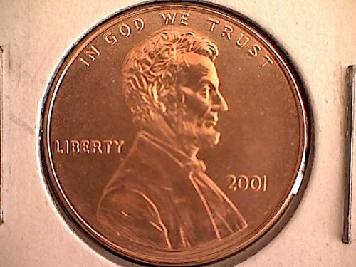 2001-P LINCOLN MEMORIAL PENNY