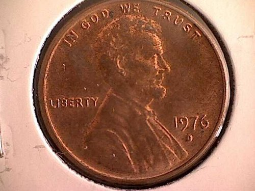 1976 - D LINCOLN MEMORIAL PENNY