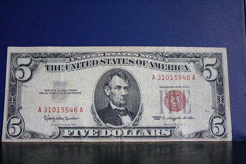 1963 USA FIVE DOLLAR PAPER CURRENCY