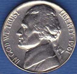 1961 D  Jefferson Nickel