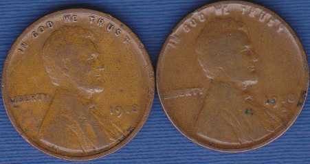 1918 P & 1918 D Lincoln Wheat Cents