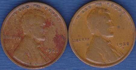 1920 P & D Lincoln Wheat Cents