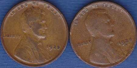 1925 P & 1925 D Lincoln Wheat Cents