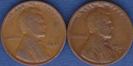 1926 P & 1926 D Lincoln Wheat Cents