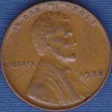 1938 P Lincoln Wheat Cent