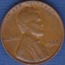 1935 P Lincoln Wheat Cent