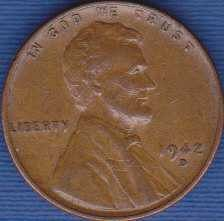 1942 D Lincoln Wheat Cent