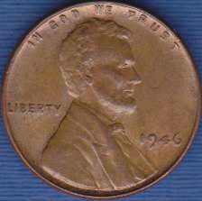 1946 P Lincoln Wheat Cent